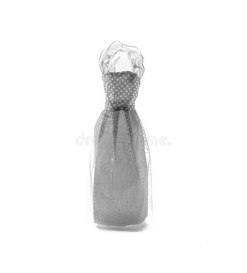 Dress paper. General old grey dress paper doll isolated on white background stock images