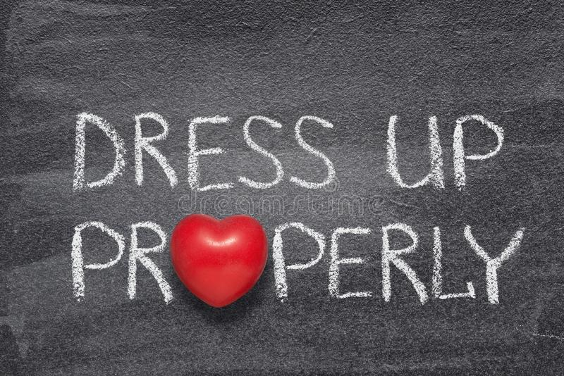 Dress properly heart royalty free stock photography