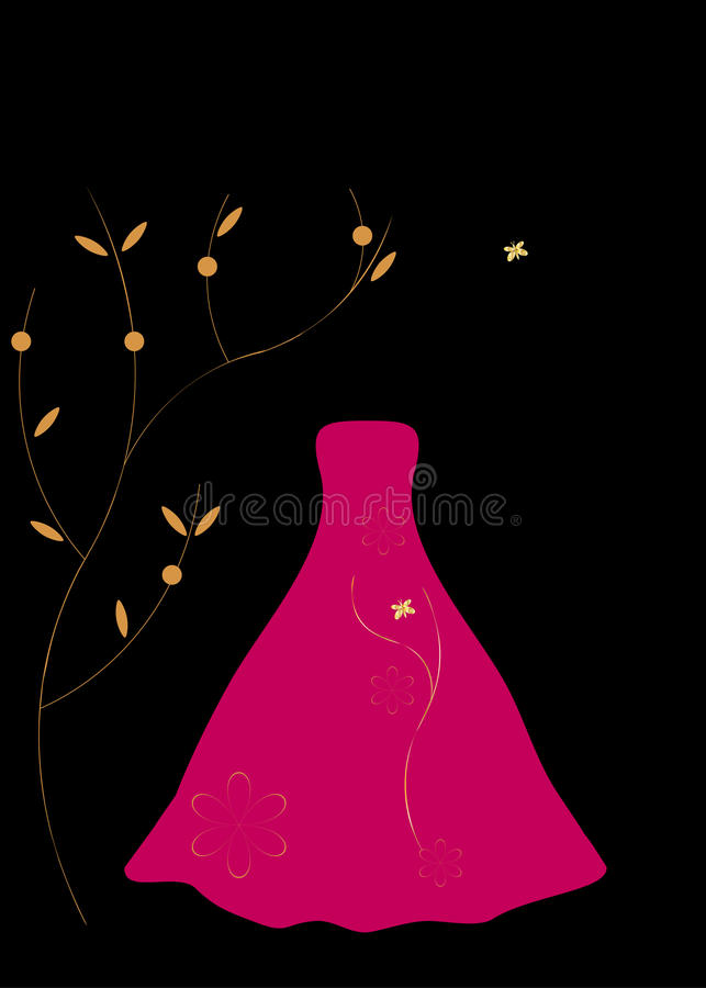 Dress Red For Evening Royalty Free Stock Images