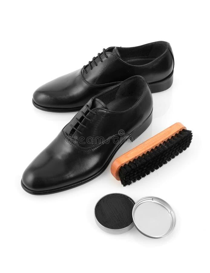 Shoes And Shoe Polish Stock Photo Image Of Brush Mens