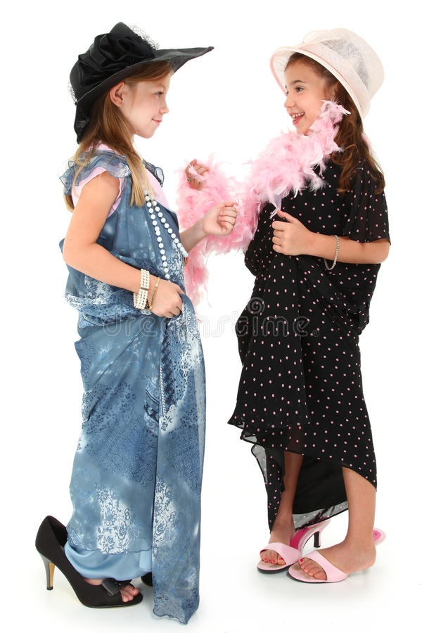 Dress Up Girls Royalty Free Stock Photography