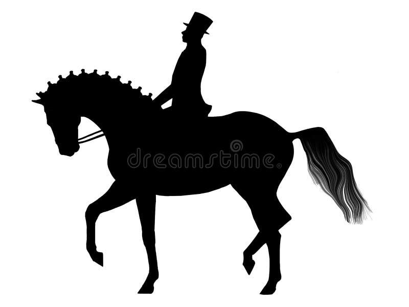 dressage royalty ilustracja