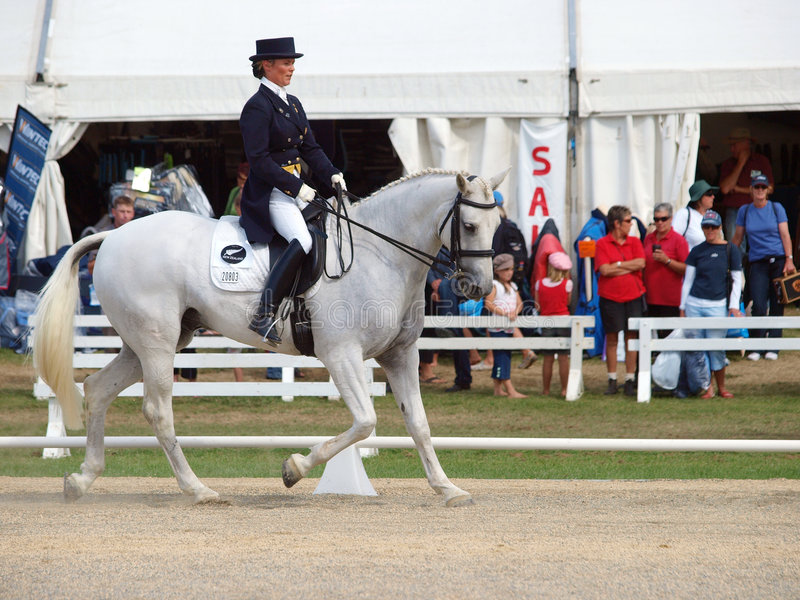 Dressage Competitor Editorial Stock Photo
