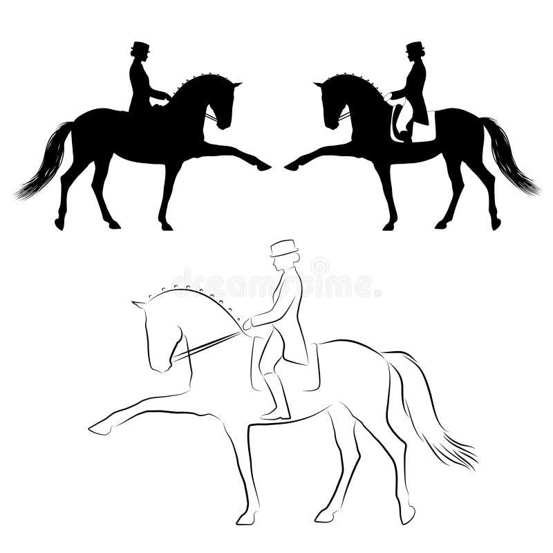 Dressage hiszpański spacer royalty ilustracja