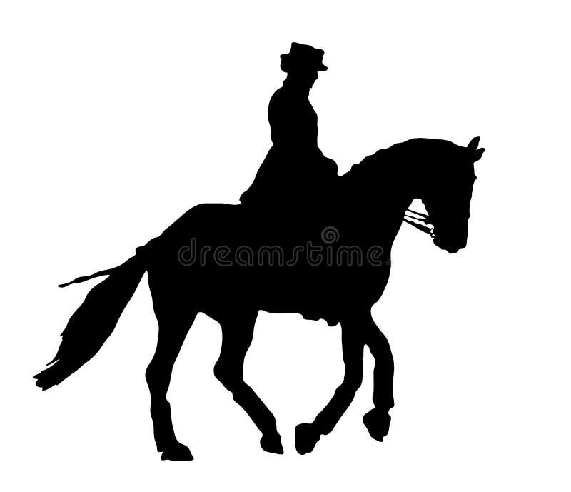Dressage konia silluet ilustracji