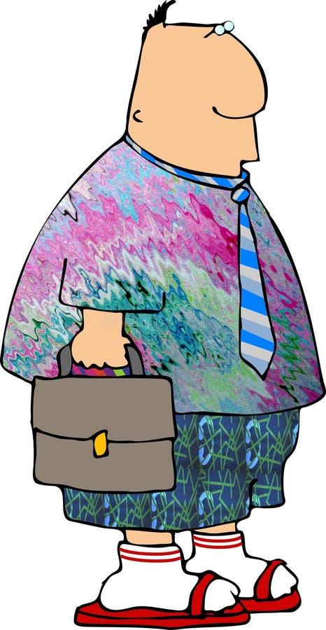 dressdown friday royaltyfri illustrationer