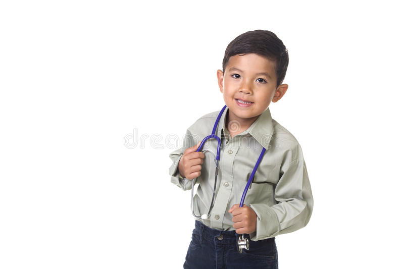Dressed up as a doctor. stock photos