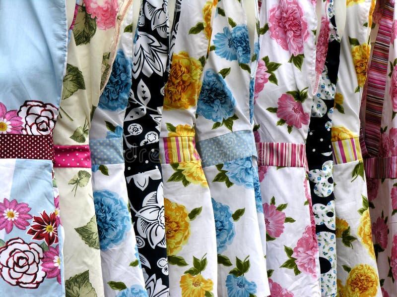 Dresses. Hanging royalty free stock image
