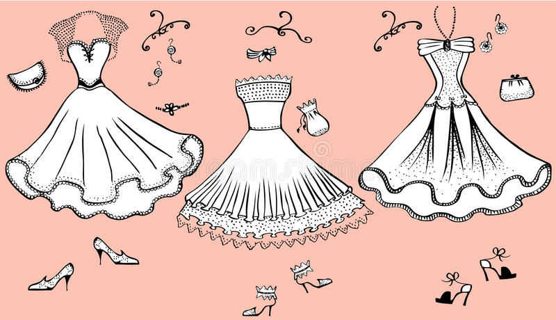 Dresses.Clothes stock photo
