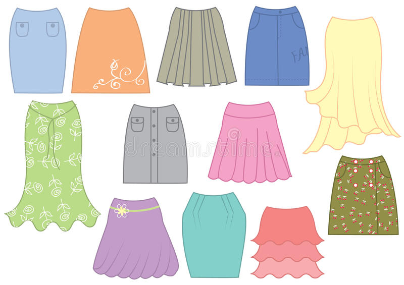 Dresses and skirts royalty free stock images