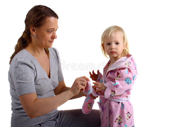 Download Dressing stock photo. Image of gown, baby, blond, care - 15728210