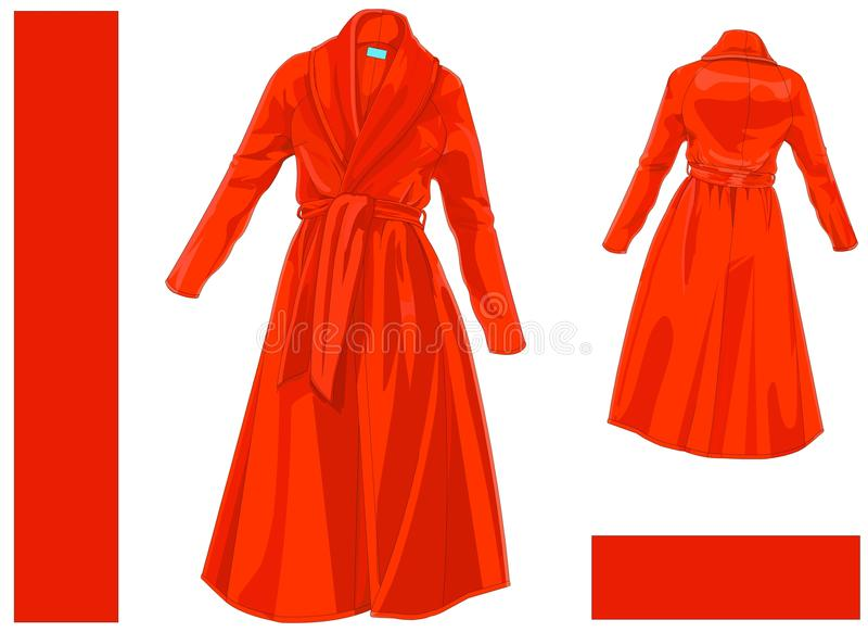 Dressing Gown Coat stock vector. Illustration of sleeve - 109177733