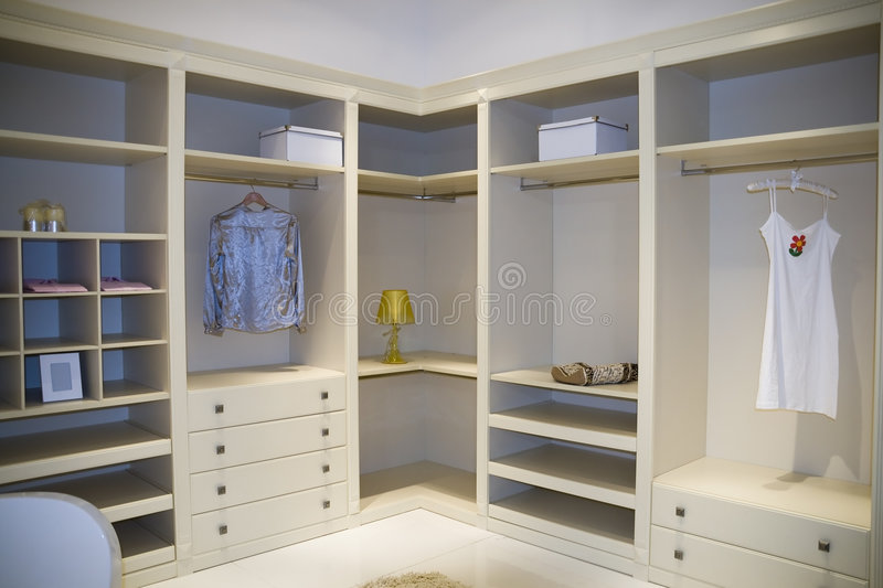 Dressing room stock image