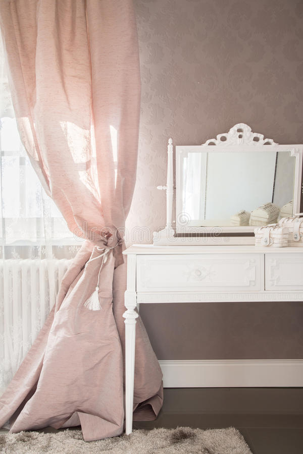 Dressing table in a bedroom royalty free stock image