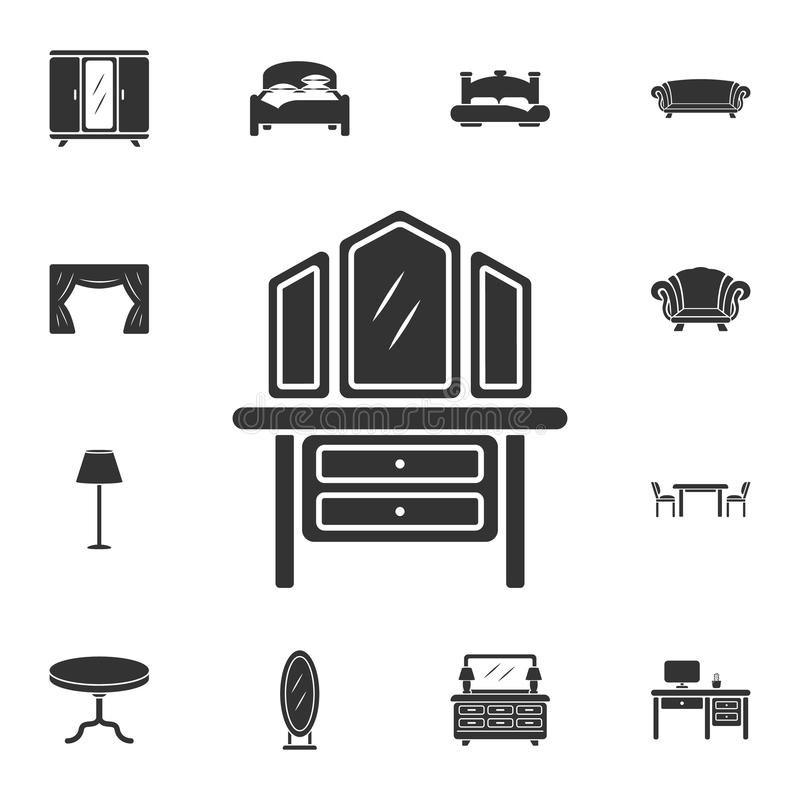 Dressing table icon. Simple element illustration. Dressing table symbol design from Home Furniture collection set. Can be used for vector illustration
