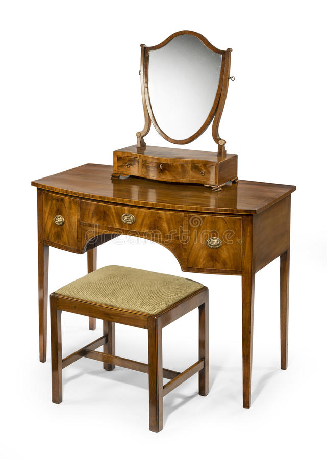 Dressing Table Mirror And Stool Set Antique And Vintage Stock Image ...