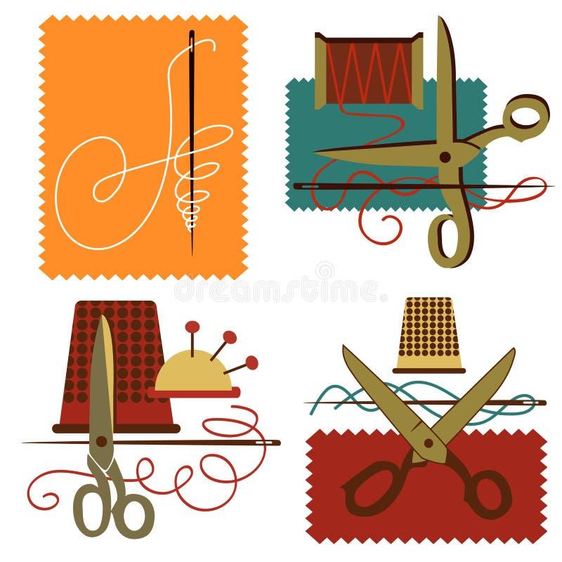 Dressmaking do ícone ilustração stock