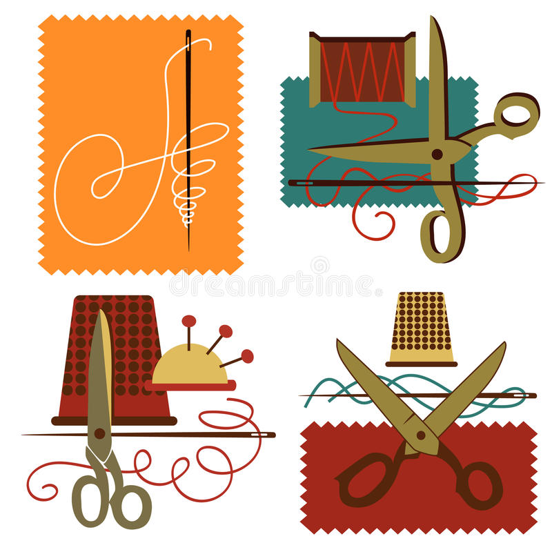 Download Dressmaking ikona ilustracja wektor. Obraz złożonej z założenia - 17755480