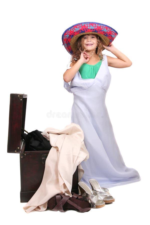 dressup女孩年轻人 免版税库存图片