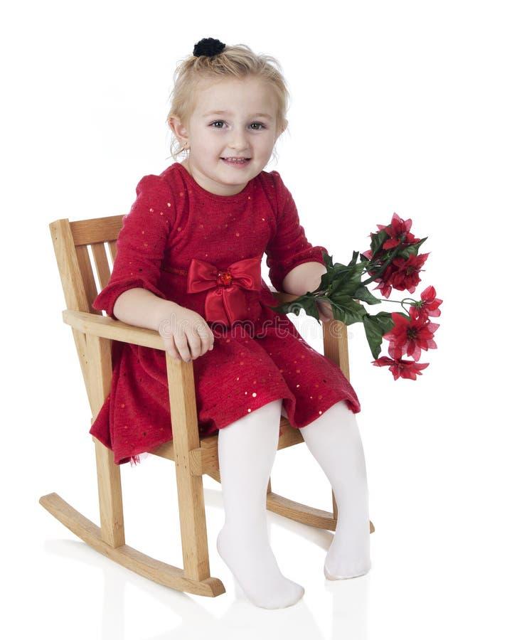 Dressy Christmas Preschooler stock photography