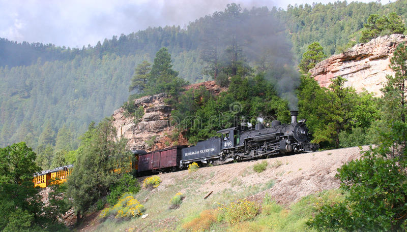 Drev Durango och Silverton för smalt mått royaltyfri fotografi