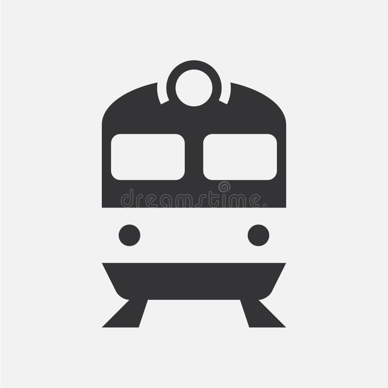 Drev eller lokomotiv Enkel vektorsymbol royaltyfri illustrationer
