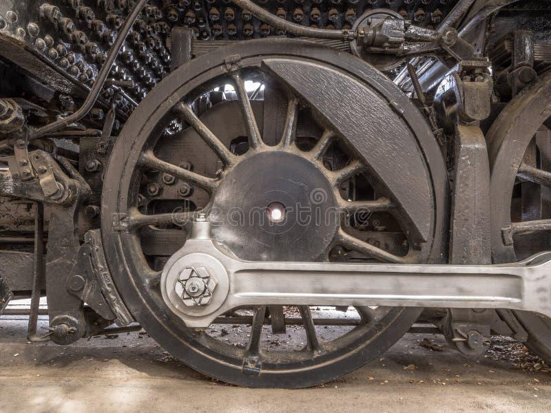 Drevhjul & koppla ihopStång arkivfoton
