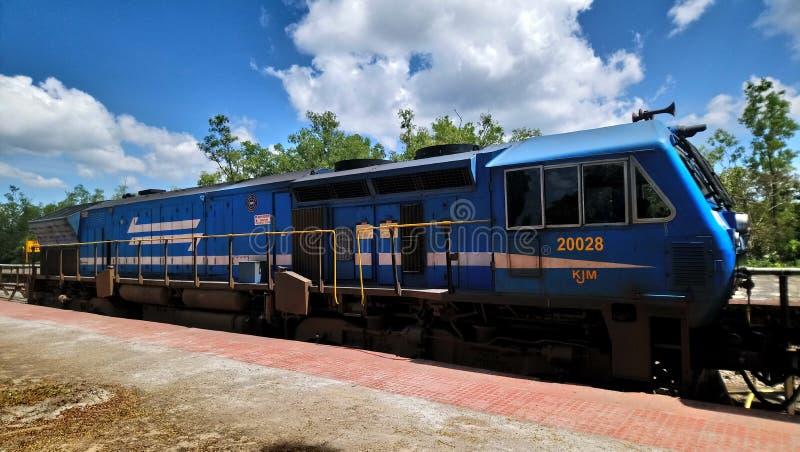 Drevlokomotiv i Indien, sidosikt fotografering för bildbyråer