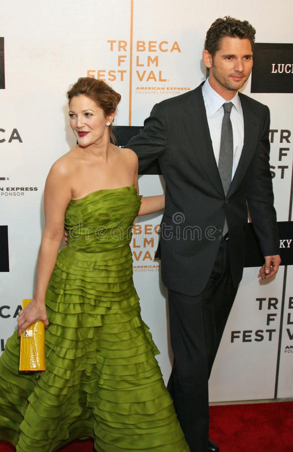 Drew Barrymore et Eric Bana images libres de droits