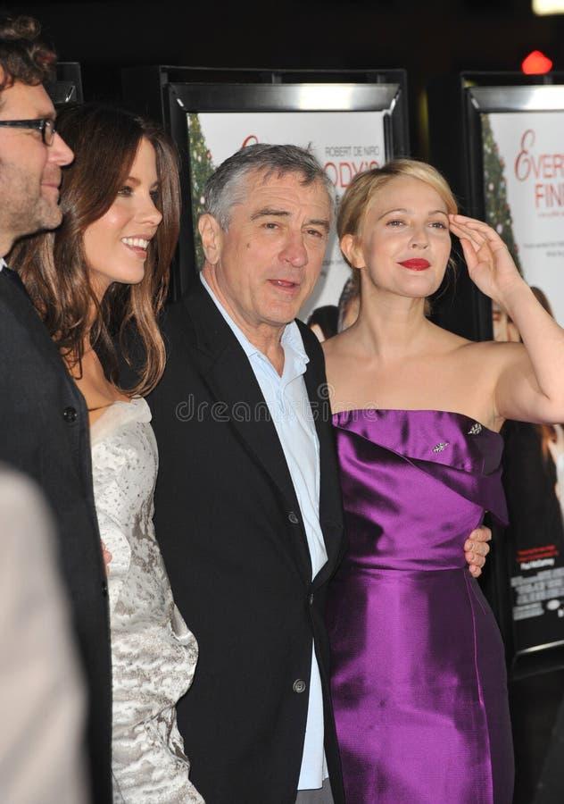 Drew Barrymore, Kate Beckinsale, Robert De Niro royalty-vrije stock afbeelding