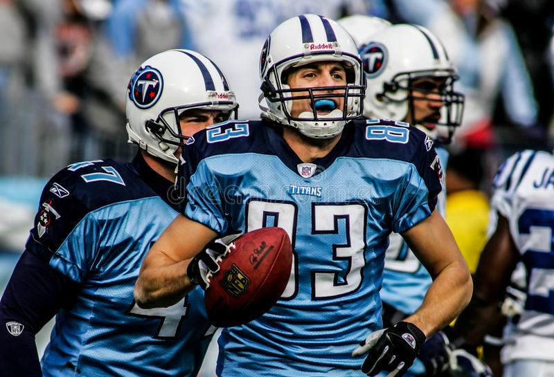 Drew Bennett, Tennessee Titans, WR foto de stock royalty free
