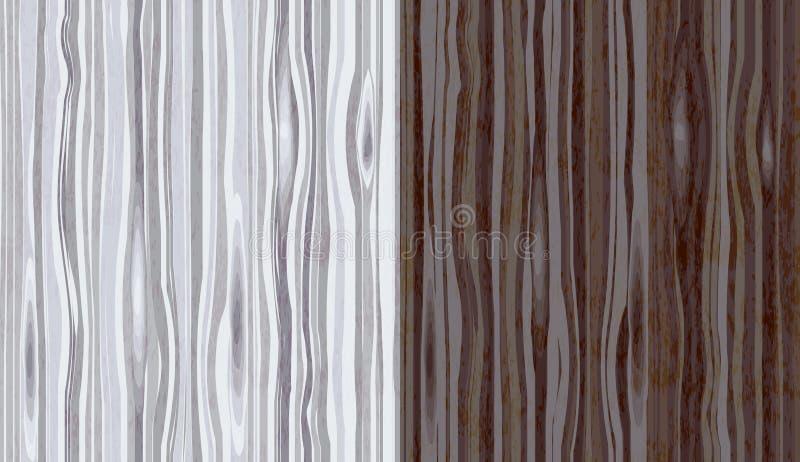 Drewna adra textured tło bezszwowy wzoru ilustracji
