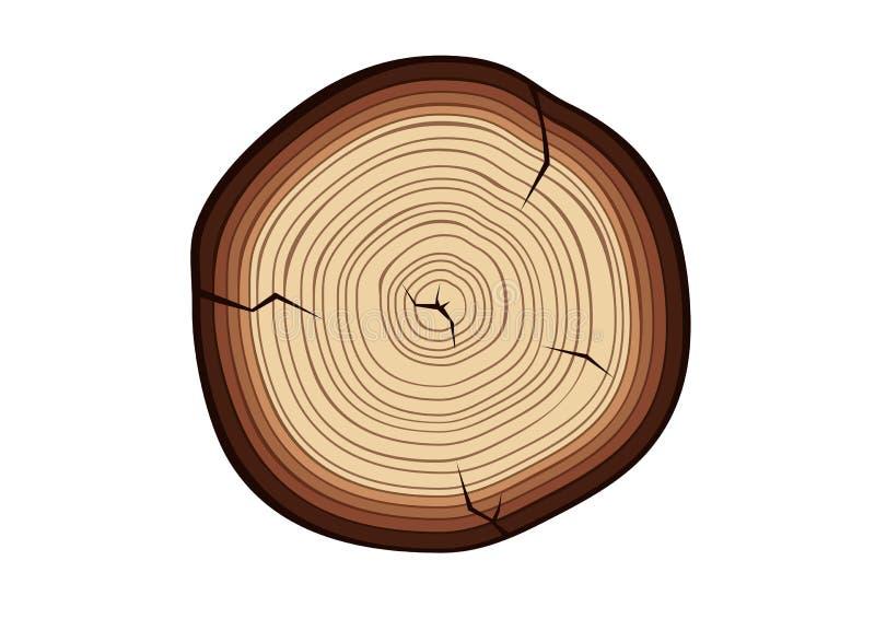 Drewna cięcie ilustracja wektor