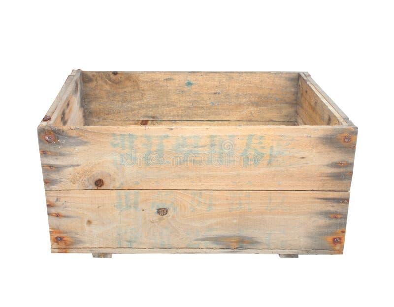 Drewna pudełko odizolowywający na bielu obrazy royalty free