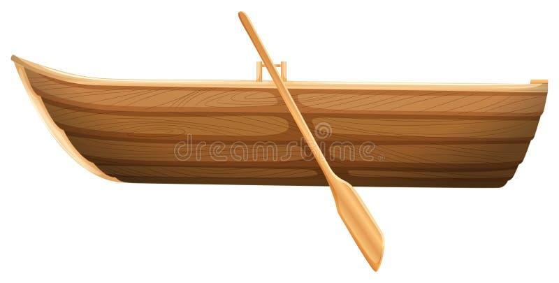 Drewniana łódź royalty ilustracja