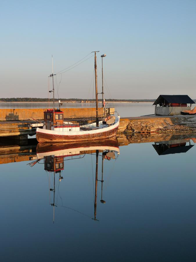 Drewniana łódź rybacka fotografia royalty free