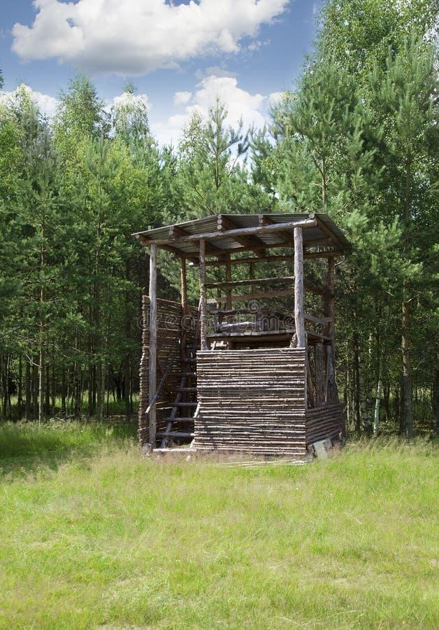Drewniana łowiecka rogacz stora fotografia royalty free