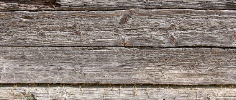 Drewniana ściana stary bela dom obrazy stock