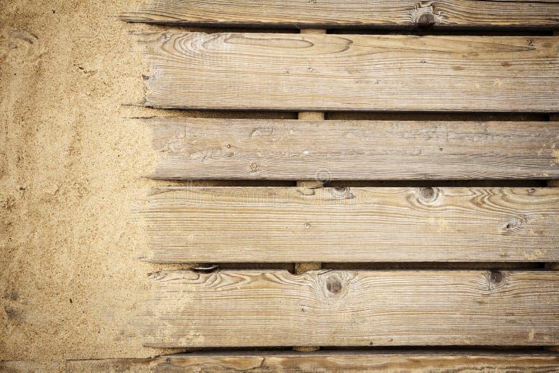 Drewniana ścieżki tekstura obrazy royalty free