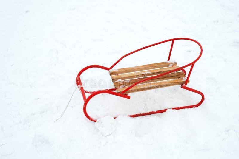 2010 drewniana śnieżna sanie zima obraz royalty free