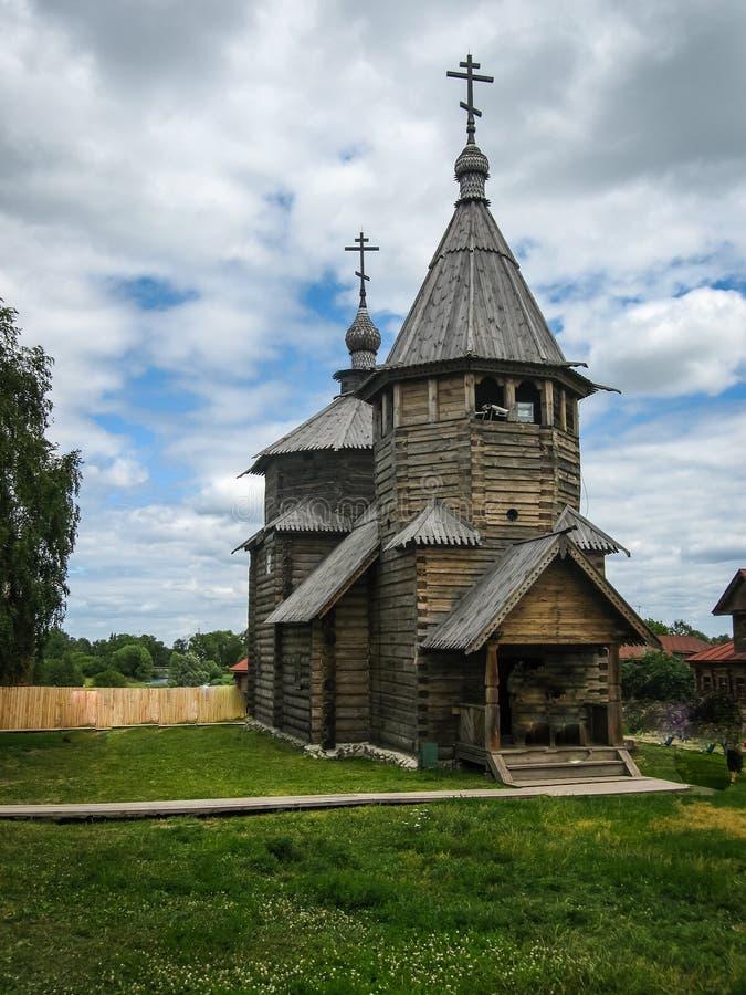 Drewniana architektura w Suzdal, Vladimir region, Rosja obraz royalty free