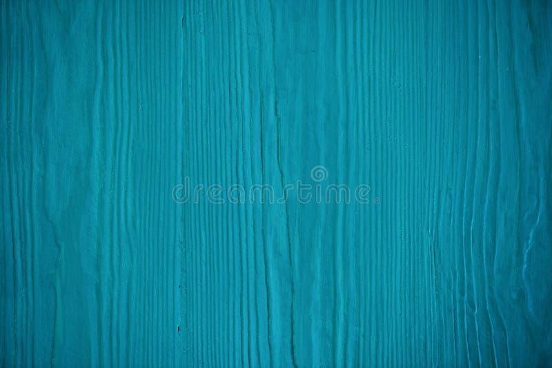 Drewniana błękitna tekstura Błękitna szalunek deska z wietrzeć krekingowymi liniami Naturalny tło dla podławego modnego projekta  obrazy royalty free