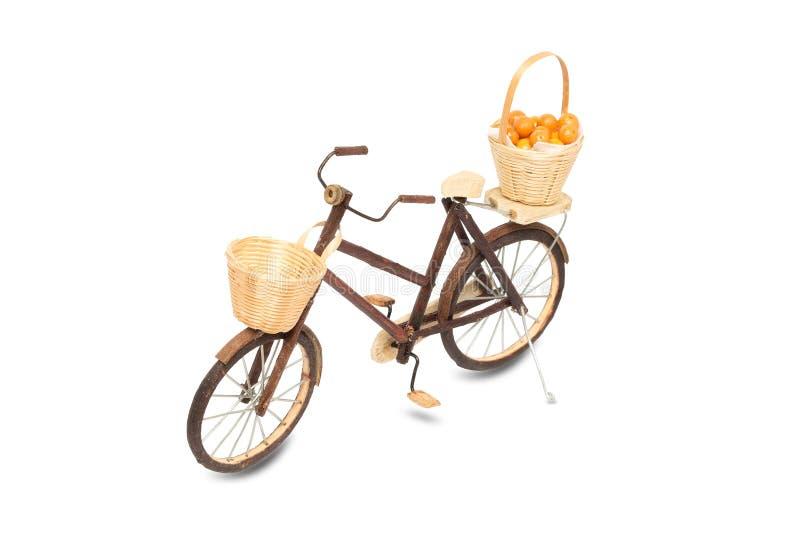 Drewniana bicykl zabawka obraz stock