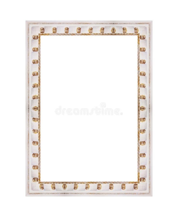 Drewniana biel rama dla malować lub obrazek odizolowywający na tle obrazy stock