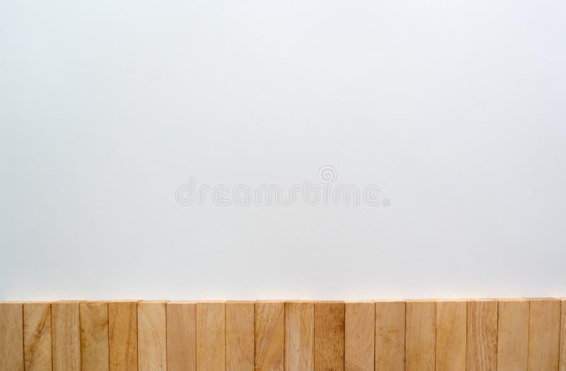 Drewniana blok ściany kopii przestrzeń zdjęcie royalty free