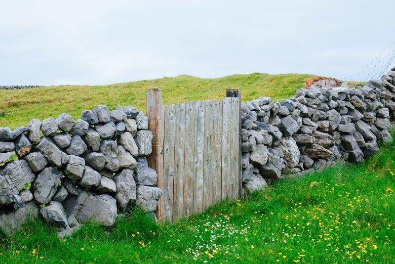 Drewniana brama, Irlandia obraz royalty free