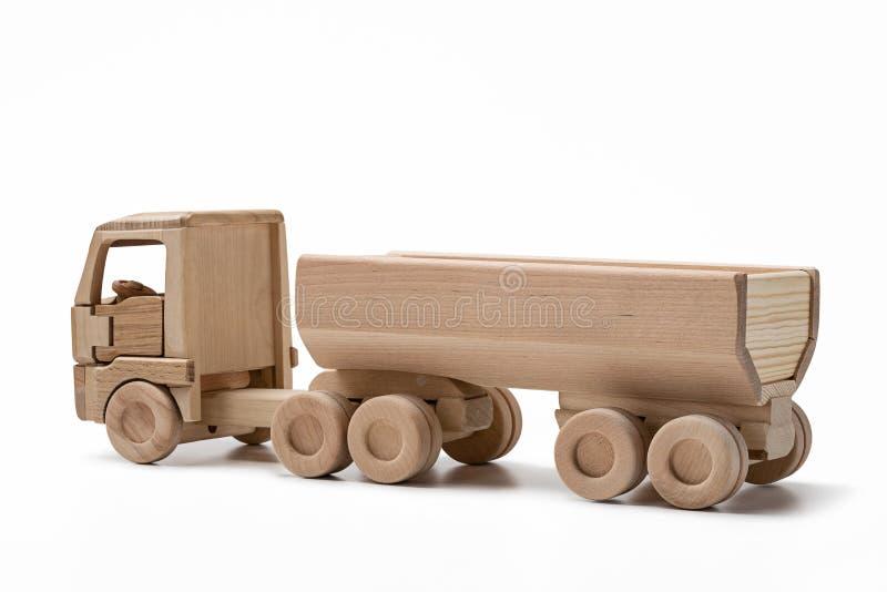 Drewniana ciężarówka z przyczepą fotografia royalty free