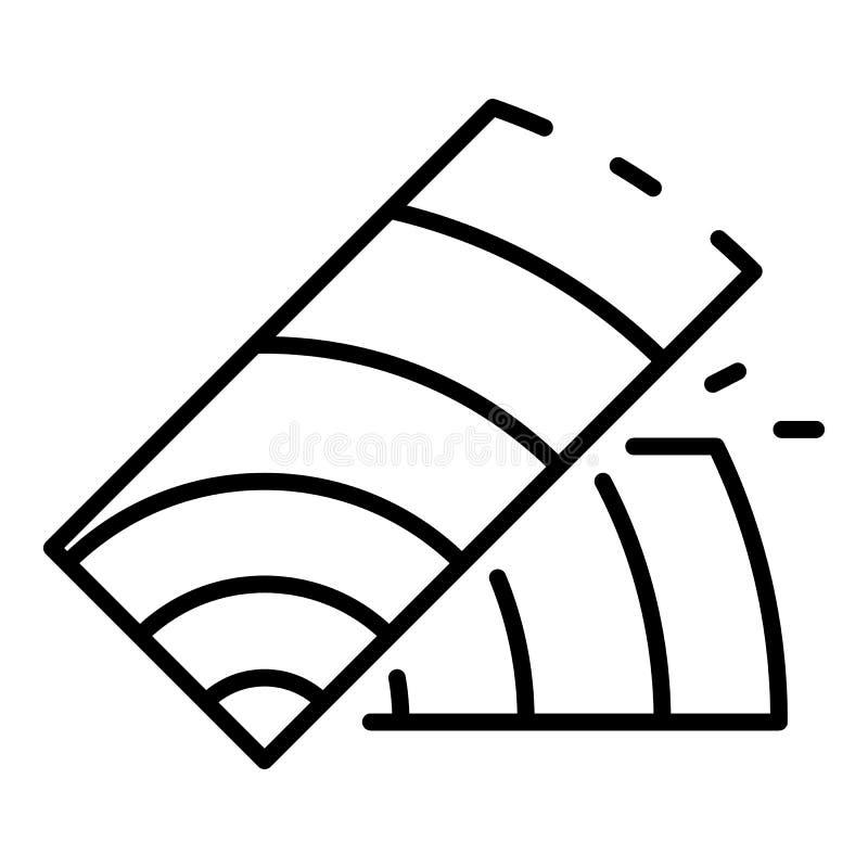 Drewniana części ikona, konturu styl ilustracji