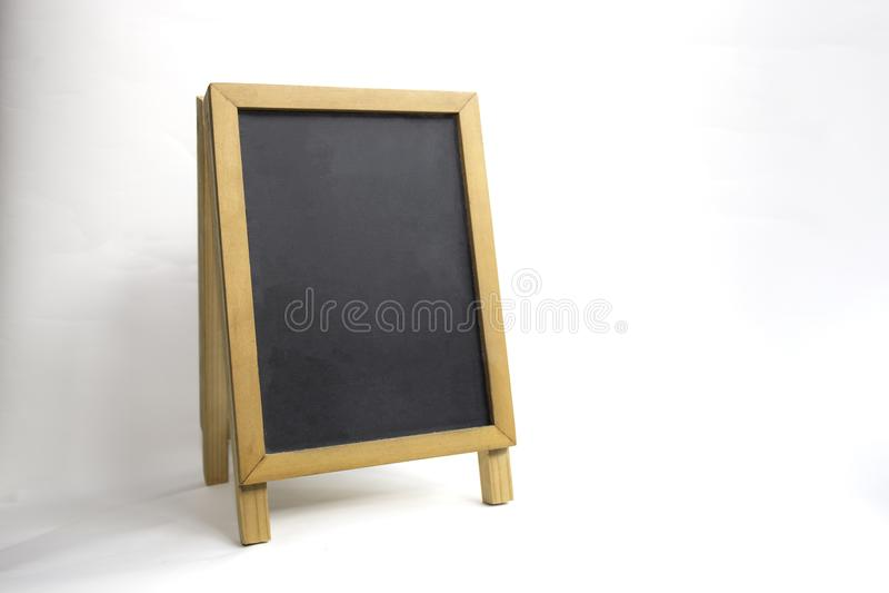 Drewniana czerni deska odizolowywająca na białym tle z ścinek ścieżką obrazy stock