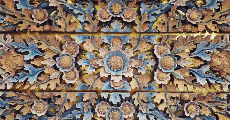 Drewniana dekoracja rzeźbiąca zdjęcie stock